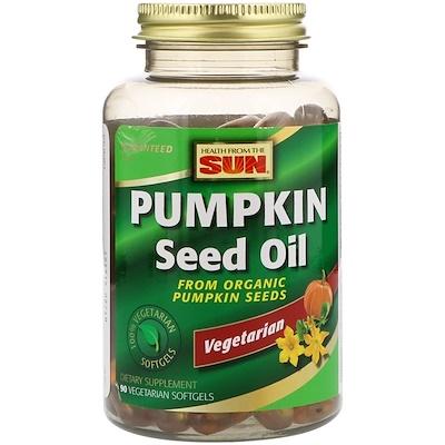 Тыквенное масло, 90 Вегетарианских мягких таблеток