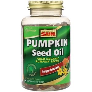 Хэлс фром де сан, Pumpkin Seed Oil, 90 Vegetarian Softgels отзывы покупателей