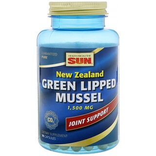 Health From The Sun, New Zealand Green Lipped Mussel, 1500 mg, 90 Capsules