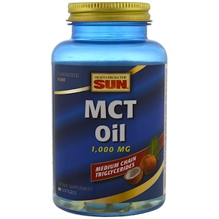 Health From The Sun, MCT Oil, 1,000 mg, 90 Softgels