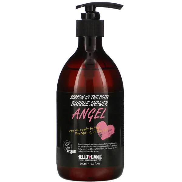 Season In the Body Bubble Shower, Angel, 16.9 fl oz (500 ml)