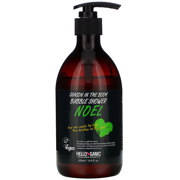 Season In the Body Bubble Shower, Noel, 16.9 fl oz (500 ml)