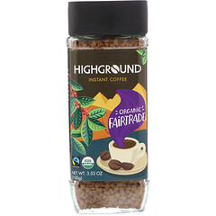 Highground Coffee, 有機即溶咖啡,中度烘焙,3.53 盎司(100 克)