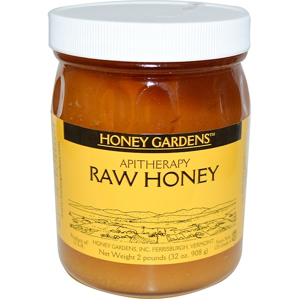 Honey Gardens, Апитерапия, Сырой мед, 32 унций (908 г) (Discontinued Item)