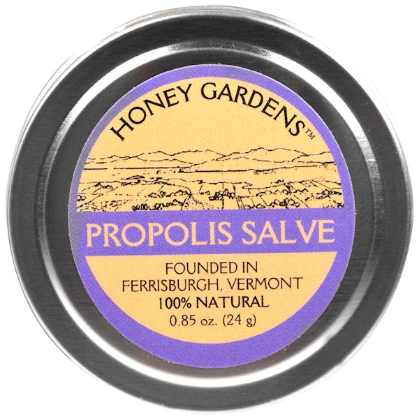 Honey Gardens, Propolis Salve, 0.85 fl oz (24 g) (Discontinued Item)