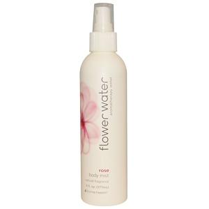 Хоум Хэлс, Flower Water, Body Mist, Rose, 6 fl oz (177 ml) отзывы покупателей