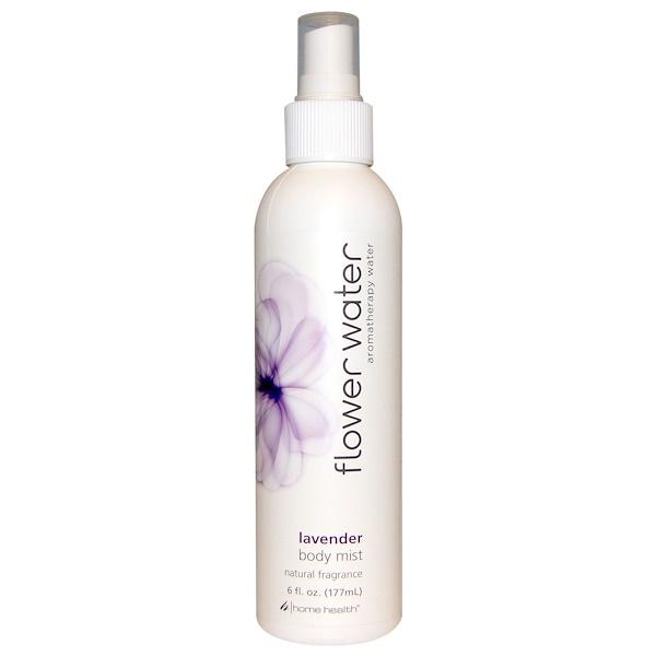 Home Health, Flower Water, Body Mist, Lavender, 6 fl oz (177 ml) (Discontinued Item)