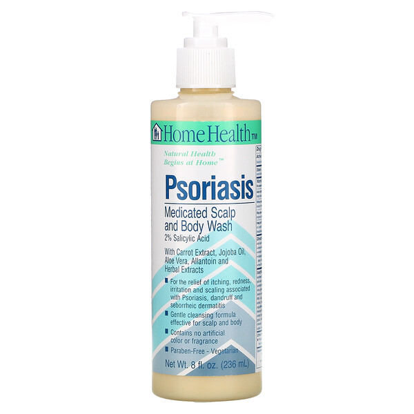Home Health, 乾癬用, 薬用 スカルプ・ボディー ウォッシュ, 8 fl oz (236 ml)