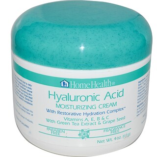 Home Health, Hyaluronic Acid, Moisturizing Cream with Restorative Hydration Complex, 4 oz (113 g)