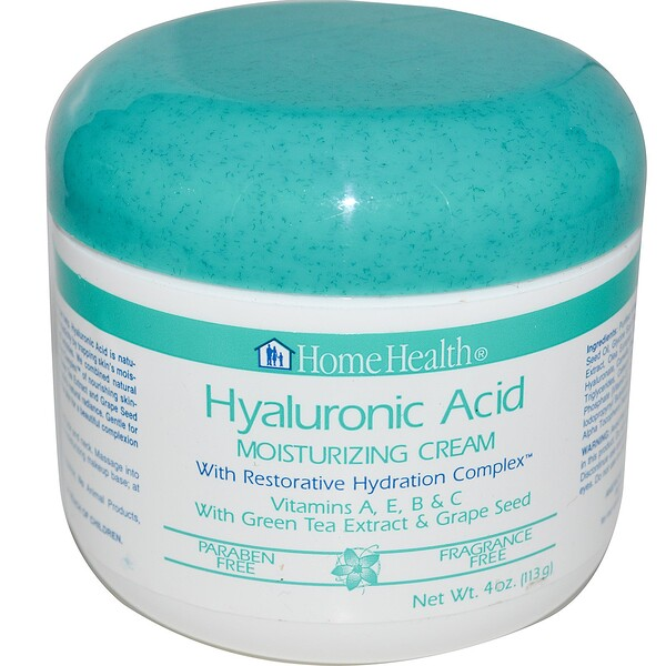 Hyaluronic Acid, Moisturizing Cream with Restorative Hydration Complex, 4 oz (113 g)