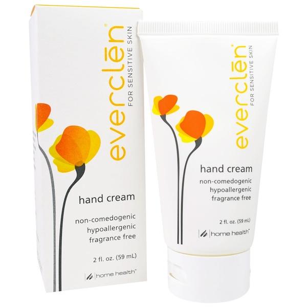 Home Health, Everclen, Hand Cream, 2 fl oz (59 ml) (Discontinued Item)