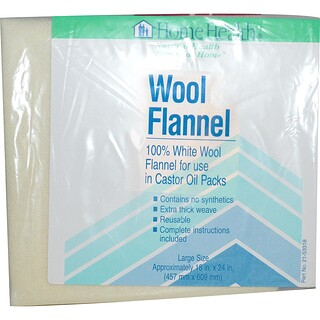 Home Health, Wool Flannel, Large, 1 Flannel