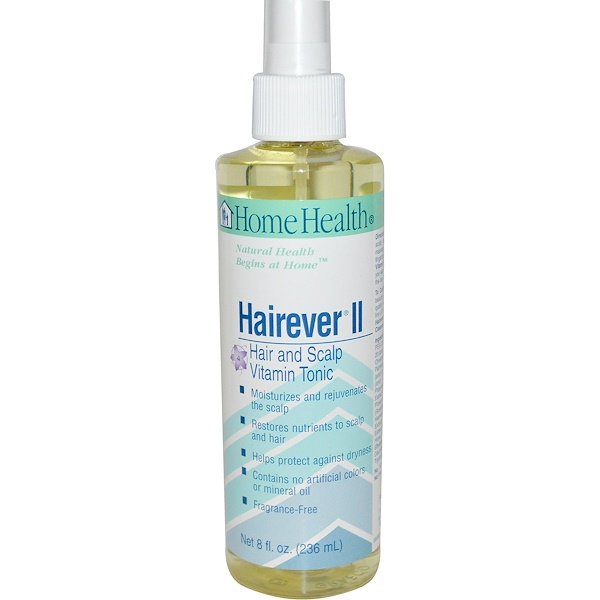 Home Health, Hairever II, Hair and Scalp Vitamin Tonic, 8 fl oz (236 ml) (Discontinued Item)