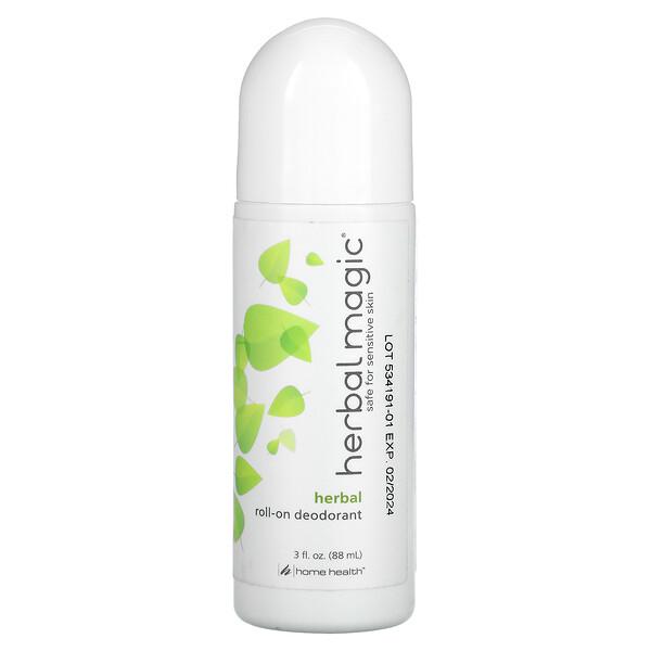 Herbal Magic, Roll-On Deodorant, Herbal Scent, 3 fl oz (88 ml)