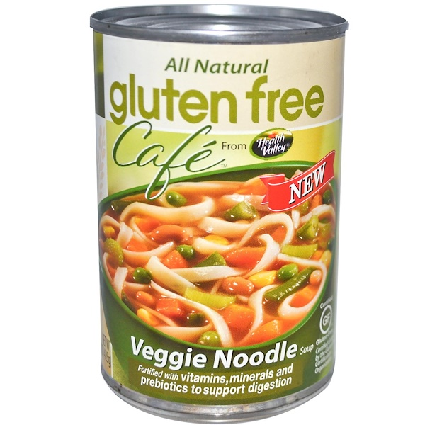 Health Valley, Gluten Free Cafe, вегетерианский суп с лапшой, 15 унций (425 г) (Discontinued Item)