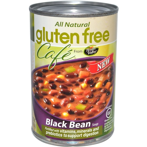 Health Valley, Gluten Free Café, Black Bean Soup, 15 oz (425 g) (Discontinued Item)