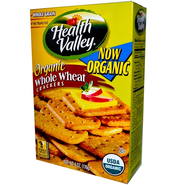 Health Valley, Organic Whole Wheat Crackers, 6 oz (170 g) (Discontinued Item)