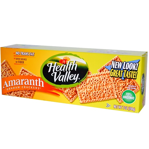 Health Valley, Amaranth Graham Crackers, 7 oz (198 g) (Discontinued Item)