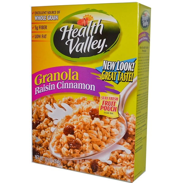 Health Valley, Granola Raisin Cinnamon Cereal, 12.5 oz (354 g) (Discontinued Item)