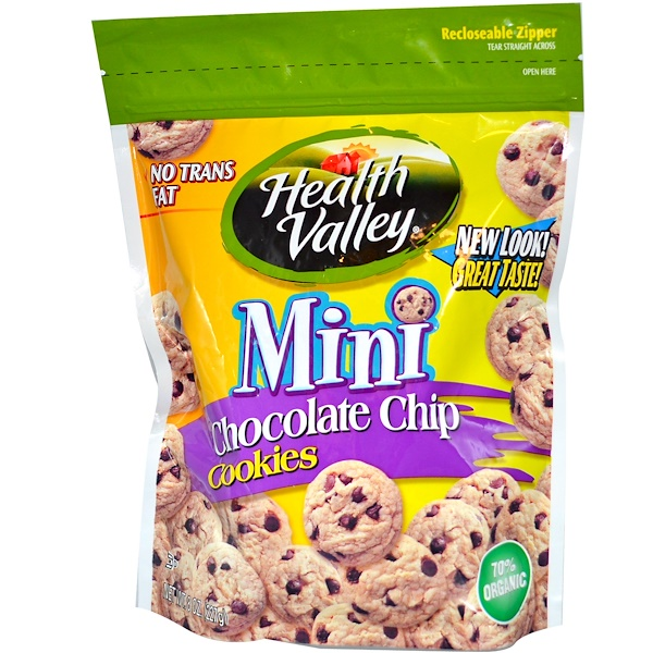 Health Valley, Mini Chocolate Chip Cookies, 8 oz (227 g) (Discontinued Item)