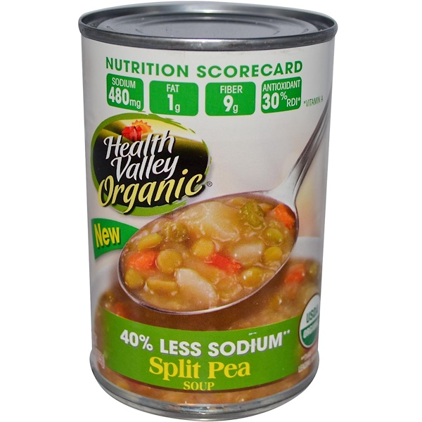 Health Valley, Organic, Split Pea Soup, 15 oz (425 g) (Discontinued Item)