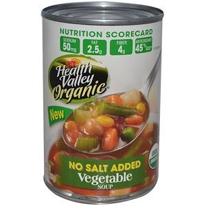 Хэлс Валлей, Organic, Vegetable Soup, No Salt Added, 15 oz (425 g) отзывы
