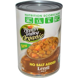 Health Valley, Organic, Lentil Soup, 15 oz (425 g)