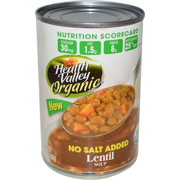 Health Valley, Organic, Lentil Soup, 15 oz (425 g) (Discontinued Item)