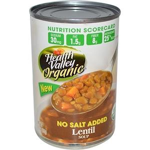 Хэлс Валлей, Organic, Lentil Soup, 15 oz (425 g) отзывы
