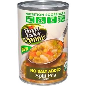 Хэлс Валлей, Organic, Split Pea Soup, No Salt Added, 15 oz (425 g) отзывы