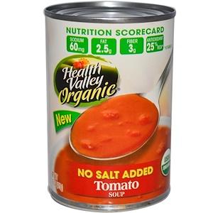 Хэлс Валлей, Organic, Tomato Soup, No Salt Added, 15 oz (425 g) отзывы