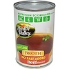 Health Valley, Broth, Beef Flavored, No Salt Added, 14.25 oz (403 g) (Discontinued Item)