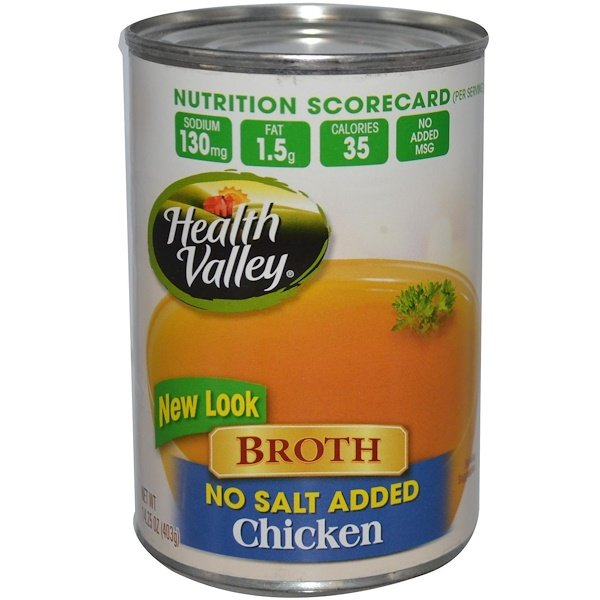 Health Valley, Broth, Chicken, 14.25 oz (403 g) (Discontinued Item)
