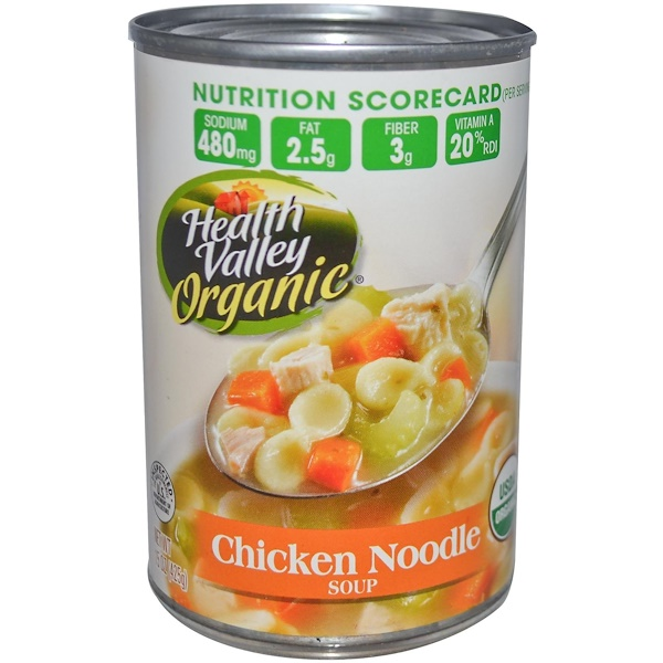 Health Valley, Organic Soup, Chicken Noodle, 15 oz (425 g)