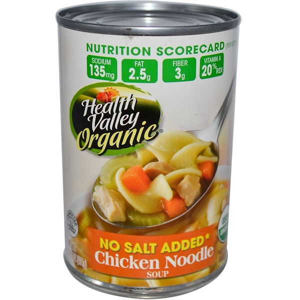 Health Valley, Organic, Chicken Noodle Soup, 14.5 oz (411 g) (Discontinued Item)