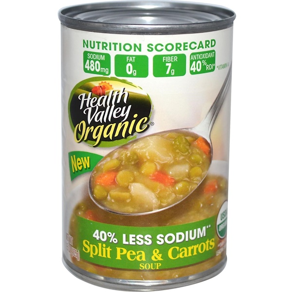 Health Valley, Organic Soup, Split Pea & Carrots, 15 oz (425 g) (Discontinued Item)