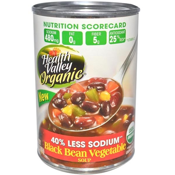 Health Valley, Organic, Black Bean Vegetable Soup, 15 oz (425 g) (Discontinued Item)