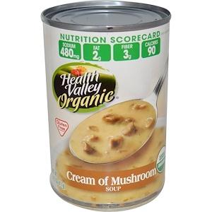 Хэлс Валлей, Organic, Cream of Mushroom Soup, Gluten Free, 14.5 oz (411 g) отзывы