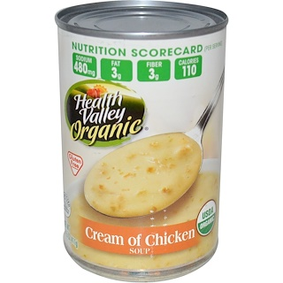 Health Valley, Organic, Cream of Chicken Soup, 14.5 oz (411 g)