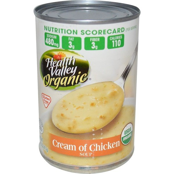 Health Valley, Organic, Cream of Chicken Soup, 14.5 oz (411 g) (Discontinued Item)