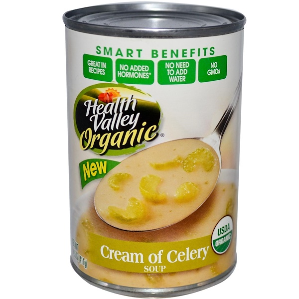 Health Valley, Organic Soup, Cream of Celery, 14.5 oz (411 g) (Discontinued Item)