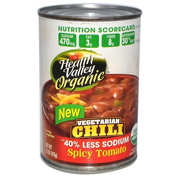 Health Valley, Органическое, вегетарианское чили, пряный томат 15 унции (425 г) (Discontinued Item)