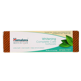 Himalaya, Whitening Mint Travel Toothpaste, Simply Mint, 0 75 oz (21 g)