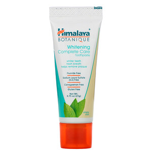 Хималая Хербал Хэлскэр, Whitening Mint Travel Toothpaste, Simply Mint, 0.75 oz (21 g) отзывы