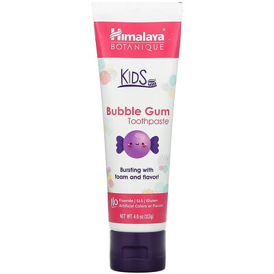 Himalaya Botanique, Kids Toothpaste, Bubble Gum, 4.0 oz (113 ml)