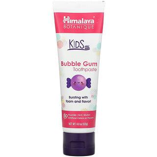 Himalaya, Botanique, Kids Toothpaste, Bubble Gum, 4.0 oz (113 g)