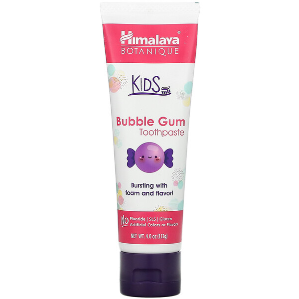 Botanique, Kids Toothpaste, Bubble Gum, 4.0 oz (113 g)
