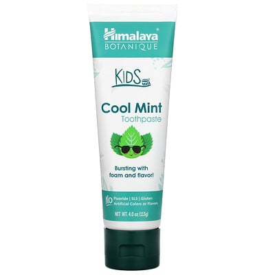 Himalaya Botanique, Kids Toothpaste, Cool Mint, 4.0 oz (113 ml)