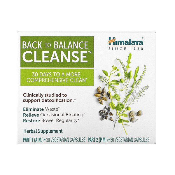 Back to Balance Cleanse, 2 Bottles, 30 Vegetarian Capsules Each