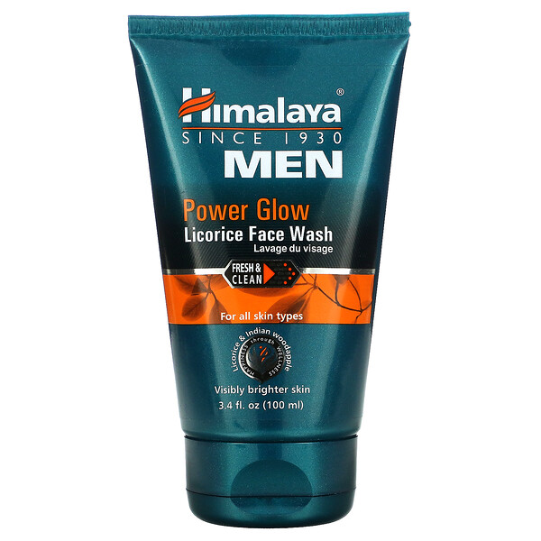 Men, Power Glow, Licorice Face Wash, 3.4 fl oz (100 ml)